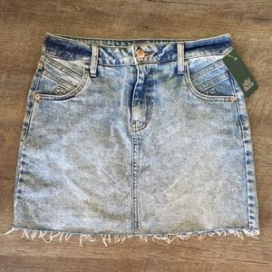 Light Washed Jean Skirt